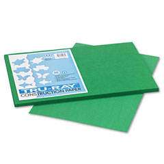 Pacon - tru-ray construction paper, 76 lbs., 12 x 18, holiday green, 50 sheets/pack, sold as 1 pk
