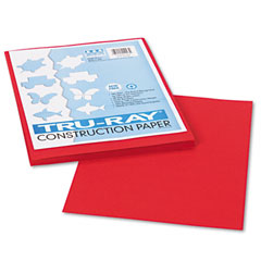Pacon 102993 Tru-Ray Construction Paper, 76 Lbs., 9 X 12, Holiday Red, 50 Sheets/Pack