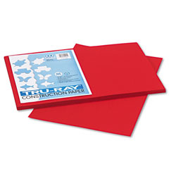 Pacon 102994 Tru-Ray Construction Paper, 76 Lbs., 12 X 18, Holiday Red, 50 Sheets/Pack