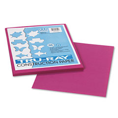 Pacon 103000 Tru-Ray Construction Paper, 76 Lbs., 9 X 12, Magenta, 50 Sheets/Pack
