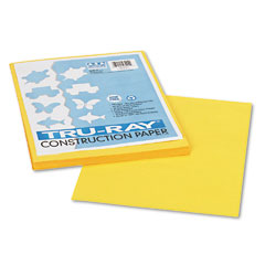 Pacon 103004 Tru-Ray Construction Paper, 76 Lbs., 9 X 12, Yellow, 50 Sheets/Pack