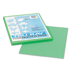 Pacon 103006 Tru-Ray Construction Paper, 76 Lbs., 9 X 12, Festive Green, 50 Sheets/Pack