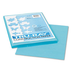 Pacon 103007 Tru-Ray Construction Paper, 76 Lbs., 9 X 12, Turquoise, 50 Sheets/Pack