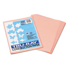Pacon 103010 Tru-Ray Construction Paper, 76 Lbs., 9 X 12, Salmon, 50 Sheets/Pack