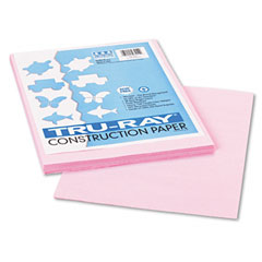 Pacon 103012 Tru-Ray Construction Paper, 76 Lbs., 9 X 12, Pink, 50 Sheets/Pack
