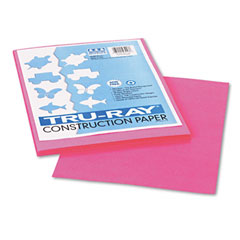 Pacon 103013 Tru-Ray Construction Paper, 76 Lbs., 9 X 12, Shocking Pink, 50 Sheets/Pack