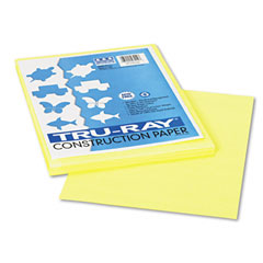 Pacon 103014 Tru-Ray Construction Paper, 76 Lbs., 9 X 12, Light Yellow, 50 Sheets/Pack
