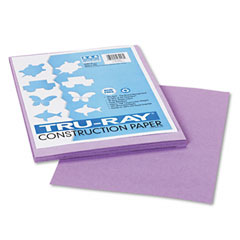 Pacon 103018 Tru-Ray Construction Paper, 76 Lbs., 9 X 12, Lilac, 50 Sheets/Pack