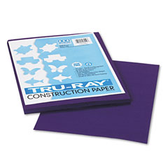 Pacon 103019 Tru-Ray Construction Paper, 76 Lbs., 9 X 12, Purple, 50 Sheets/Pack