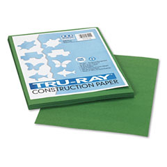 Pacon 103021 Tru-Ray Construction Paper, 76 Lbs., 9 X 12, Dark Green, 50 Sheets/Pack