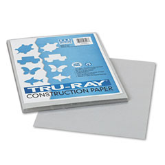 Pacon 103027 Tru-Ray Construction Paper, 76 Lbs., 9 X 12, Gray, 50 Sheets/Pack