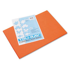 Pacon 103034 Tru-Ray Construction Paper, 76 Lbs., 12 X 18, Orange, 50 Sheets/Pack
