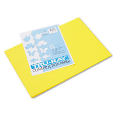 Pacon 103036 Tru-Ray Construction Paper, 76 Lbs., 12 X 18, Yellow, 50 Sheets/Pack
