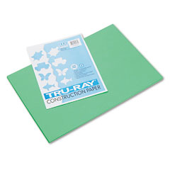 Pacon 103038 Tru-Ray Construction Paper, 76 Lbs., 12 X 18, Festive Green, 50 Sheets/Pack