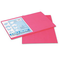 Pacon 103043 Tru-Ray Construction Paper, 76 Lbs., 12 X 18, Light Red, 50 Sheets/Pack