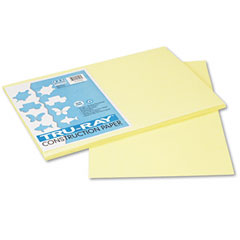 Pacon 103046 Tru-Ray Construction Paper, 76 Lbs., 12 X 18, Light Yellow, 50 Sheets/Pack