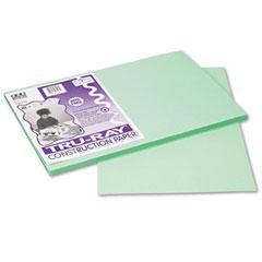 Pacon 103047 Tru-Ray Construction Paper, 76 Lbs., 12 X 18, Light Green, 50 Sheets/Pack