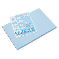Pacon 103048 Tru-Ray Construction Paper, 76 Lbs., 12 X 18, Sky Blue, 50 Sheets/Pack