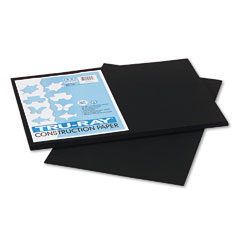Pacon - tru-ray construction paper, 76 lbs., 12 x 18, black, 50 sheets/pack, sold as 1 pk