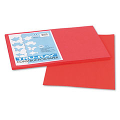Pacon 103062 Tru-Ray Construction Paper, 76 Lbs., 12 X 18, Red, 50 Sheets/Pack