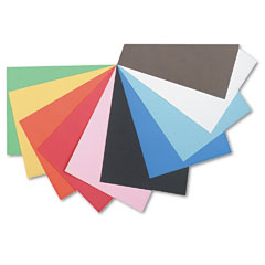 Pacon - tru-ray construction paper, 76 lbs., 12 x 18, assorted, 50 sheets/pack, sold as 1 pk