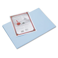 Pacon - riverside construction paper, 76 lbs., 12 x 18, light blue, 50 sheets/pack, sold as 1 pk