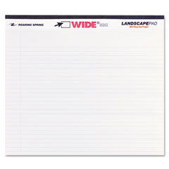 Roaring spring - landscape format writing pad, college ruled, 11 x 9-1/2, white, 40 sheets/pad, sold as 1 ea