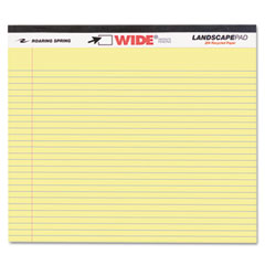 Roaring spring - landscape format writing pad, college ruled, 11 x 9-1/2, canary, 40 sheets/pad, sold as 1 ea