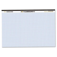 Roaring spring - landscape format writing pad, quad ruled, 11 x 9-1/2, white, 40 sheets/pad, sold as 1 ea