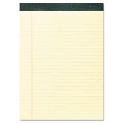 Roaring Springs 74712 Recycled Legal Pad, 8 1/2 X 11 3/4 Pad, 8 1/2 X 11 Sheets, 40/Pad, Canary, Dozen