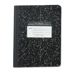 Roaring Springs 77222 Marble Cover Composition Book, Wide Rule, 9-3/4 X 7-1/2, 60 Pages