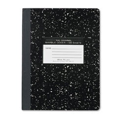 Roaring spring - marble cover wide rule composition book, 9-3/4 x 7-1/2, 100 pages, sold as 1 ea