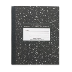 Roaring Springs 77332 Marble Cover Composition Book, Wide Rule, 8-1/2 X 7, 36 Pages