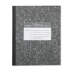 Roaring Springs 77333 Marble Cover Composition Book, Wide Rule, 8-1/2 X 7, 48 Pages