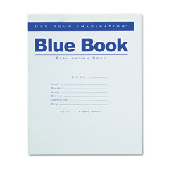 Roaring spring - exam blue book, wide rule, 8-1/2 x 7, white, 8 sheets/pad, sold as 1 ea