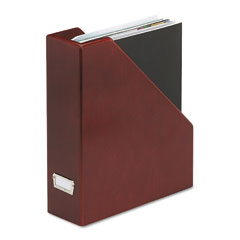 Rolodex - wood tones magazine file, 3 1/2 x 10 1/4 x 11 3/4, mahogany, sold as 1 ea