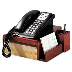 Rolodex - wood tones phone center desk stand, 12 1/8 x 10, mahogany, sold as 1 ea