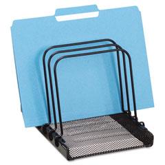 Rolodex - mesh flip file folder sorter, five sections, black, 7 4/5 x 1 7/8 x 10 2/5, sold as 1 ea
