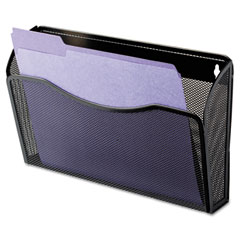 Rolodex - single pocket wire mesh wall file, letter, black, sold as 1 ea