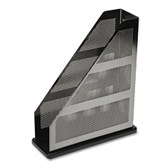 Rolodex - distinctions metal/wood magazine file, 3 3/4 x 10 1/4 x 12 7/16, black, sold as 1 ea