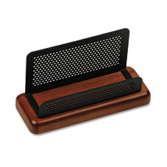 Rolodex ROLQ22751 Distinctions Business Card Holder, Capacity 50 2 1/4 x 4 Cards, Cherry/Black