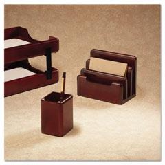Rolodex - wood tones pencil cup, mahogany, sold as 1 ea