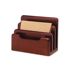 Rolodex - wood tones desktop sorter, three sections, wood, mahogany, sold as 1 ea