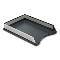 Rolodex E23565 Distinctions Self-Stacking Letter Desk Tray, Metal, Black