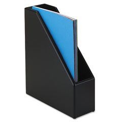 Rolodex - wood tones magazine file, 3 1/2 x 10 1/4 x 11 3/4, black, sold as 1 ea