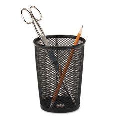 Rolodex - nestable jumbo wire mesh pencil cup, 4 3/8 dia. x 5 1/8, black, sold as 1 ea
