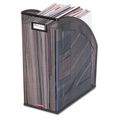 Rolodex - nestable rolled mesh steel jumbo magazine file, 5 7/8 x 10 x 12 1/2, black, sold as 1 ea