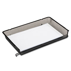 Rolodex 62563 Nestable Mesh Stacking Side Load Legal Tray, Wire, Black
