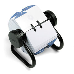 Rolodex - open rotary card file holds 500 2-1/4 x 4 cards, black, sold as 1 ea