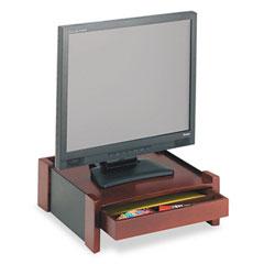 Rolodex 81776 Monitor Stand, Drawer/Cord Organizer, 14 1/2 X 13 1/2 X 5 1/8, Black/Mahogany